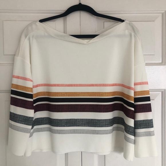 Zara easy crop blouse